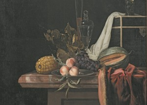 Still life with fruit and glass, 1670-1680, Henri de Fromantiou